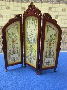 Dolls House Furniture Screen Mahogany JiaYi 6903MH