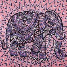 130cmx150cm New Elephant Tapestry Colored Printed Decorative Mandala Tapestry Indian Boho Wall Carpet