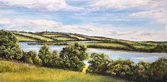 "Daily Paintworks - ""Roadford Lake - Summer"" - Original Fine Art for Sale - © Karen Robinson"