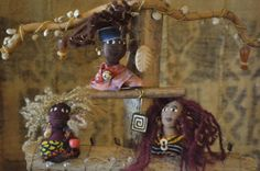 Doll Pinz are the perfect wearable art.Orginal Art dolls by Kianga Jinaki. Doll Pinz by JumpingAtTheSun on Etsy, $22.50