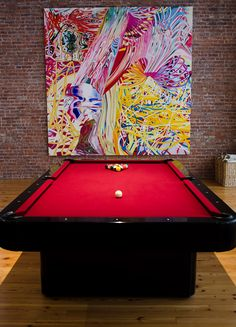 not the pool table! the painting