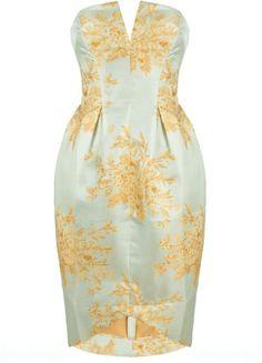 Light Blue Valiant Brocade Dress - Lyst