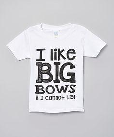 68b7f837b732ba Kerusso White  I Like Big Bows  Tee - Toddler   Girls
