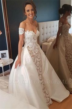 Prom Dress For Teens, Pretty Of The Shoulder Lace Satin Long Wedding Dresses Wedding Gowns, cheap prom dresses, beautiful dresses for prom. Best prom gowns online to make you the spotlight for special occasions. Ivory Lace Wedding Dress, Wedding Dresses Uk, Sweetheart Wedding Dress, Junior Bridesmaid Dresses, Bridal Dresses, Lace Dress, Girls Dresses, Flower Girl Dresses, Mermaid Wedding