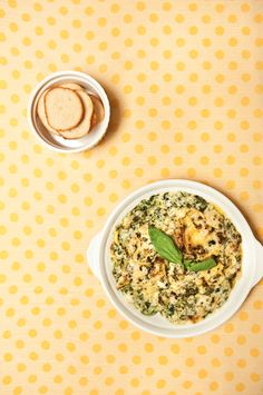 Super Bowl recipe: Spinach and Orgy Dip @ www.apronandheels.com
