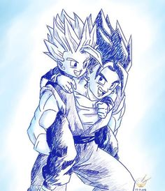 Dragon Ball - GOHAN 98 by songohanart on DeviantArt Dbz, Goku Y Vegeta, Dragon Ball Z, Gogeta And Vegito, Anime Sketch, Kawaii Art, Illustrations, Awesome Anime, Comic Art