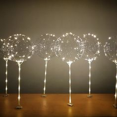 LED Party balloons kit 6 inches flashing mode batteries included perfect for helium Ballon iDeen 🎈 Light Up Balloons, Clear Balloons, Balloon Lights, Bubble Balloons, Helium Balloons, Balloon Garland, Latex Balloons, The Balloon, Balloon Ideas