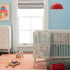 15 bed sets that will complete your baby's nursery, from mod patterns to traditional designs