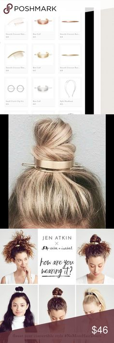Jen Atkin hair accessory line! The hottest trend and oh so cute! As seen on Khloe Kardashian, lifetime guarantee, amazing quality and style! Can also be worn as a bracelet when not making your buns absolutely adorable!                                                Available directly at                  www.chloeandisabel.com/boutique/shelbyannb         Link also in About Me section of my profile. ***Madewell for exposure only Madewell Jewelry