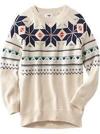 Fair Isle Tunic Sweater