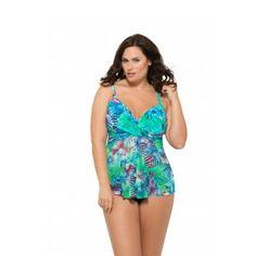 21a33a88a3eb0 Christina Plus Size Tropical Journey Flare Tankini Top Plus Size Swimsuit  Tops, Cute Plus Size