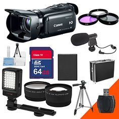 Canon 32gb Vixia Hf G20 Hf-g20 Hfg20 with Extra 64gb Sd Memory Card, Filter Kit, Wide Angle Lens, Telephoto Lens, Battery, Charger , LED Flash 5AveCamera http://www.amazon.com/dp/B0141EQSS8/ref=cm_sw_r_pi_dp_aqFfwb100W1KY