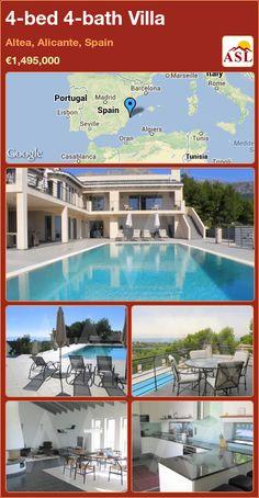 4-bed 4-bath Villa in Altea, Alicante, Spain ►€1,495,000 #PropertyForSaleInSpain