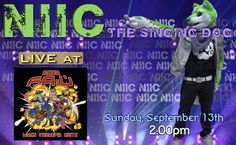 NIIC the Singing Dog will be performing LIVE at FurAffinity United on Sunday, September 13th at 2:00pm! Get ready to party in NJ!