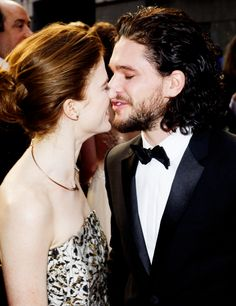 Kit Harington and Rose Leslie make their public debut as a couple at the Olivier Awards