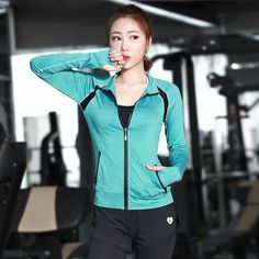 b10a99266d Women s Sport Tees Tops Camiseta Yoga Coat long Sleeve Zip Up Jacket Gym  Workout Sports Wear running mesh yoga wear-in Yoga Shirts from Sports ...