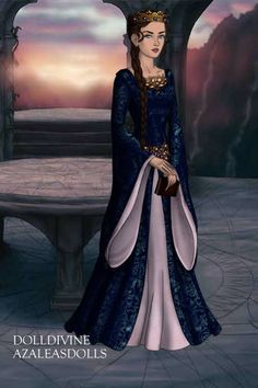 Queen Guinivere, Wife of King Arthur ~ by greenleafivy ~ created using the LotR Hobbit doll maker | DollDivine.com