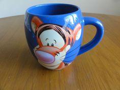 Walt Disney Large Tigger Mug Barrel Coffee Cup Tams Blue