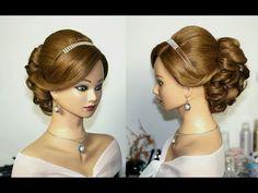 Wedding prom hairstyles for long hair. Свадебная прическа, прическа на выпускной. - YouTube