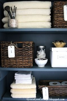 Grace Lee Cottage: Linen/Bathroom Closet Tweaks