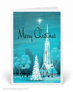 Vintage Merry Christmas Greeting Cards