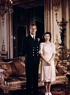 Princess Elizabeth and the Duke of Edinburgh