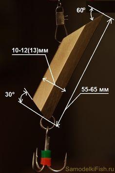 Размеры самодельной зимней блесны на судака