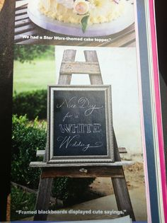 chalkboard sayings around the place, cute - set a tone
