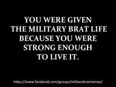 #MilitaryBrats