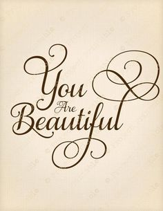 You are Beautiful Caligraphy Alphabet, Calligraphy Handwriting, Calligraphy Quotes, Calligraphy Letters, Creative Lettering, Lettering Styles, Brush Lettering, E Mc2, You Are Beautiful