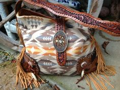 One of a kind, handcrafted, hair on hide and Pendleton wool. Only by Double J Originals *SOLD*