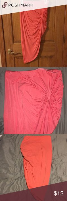 Charlotte Russe Slit Skirt Hot Pink skirt, can wear high or low waisted! Great for the summer time, slightly stretched band WILL TAKE BEST OFFER Charlotte Russe Skirts Midi