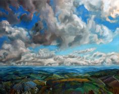 "Saatchi Art is pleased to offer the painting, ""Tuscany. Moving sky,"" by Violaine Hulné. Original Painting: Oil on Canvas. Street Art Utopia, Sky Art, Painting Inspiration, Amazing Art, Awesome, Cool Art, Saatchi Art, Art Photography, Art Gallery"