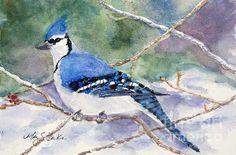 """Winter Blues,"" watercolor, by Mary Benke"