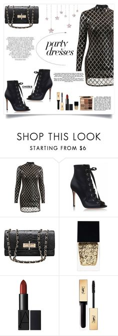 """""""#PolyPresents: Party Dresses"""" by mossoo ❤ liked on Polyvore featuring Whiteley, Witchery, Yves Saint Laurent, Stila, Choies, contestentry and polyPresents"""