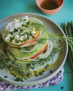 Apple & Fennel Salad with Goat Cheese
