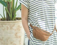 HANDMADE FANNY PACKS leather fanny packs brown Waist bag