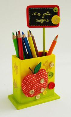 Pot à crayons - Thème enfant