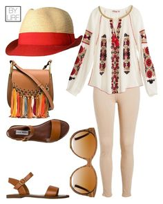 """Untitled #260"" by larryisrealforever ❤ liked on Polyvore featuring Calypso St. Barth, Steve Madden, Shwood and Chloé"