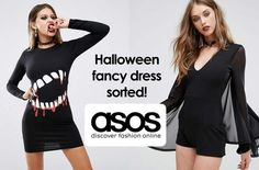 Check out these halloween outfits from ASOS. Partying the night away and looking your glamorous, spooky best is as easy as saying 'Boo!' You never know, it may just trap you the best looking zombie of the night.  #asos #halloween #fancydress