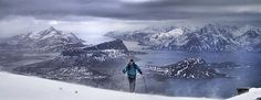 Randone skiing in the Lofoten Alps in February, March and April. From summit to…