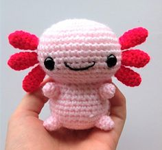 Axel The Axolotl Crochet pattern A quick and simple crochet pattern to make a cute and unique amigurumi toy! Difficulty: easy/intermediate Time: hours US terminology 10 page PDF Contains step-by-step guide with colourful pictures and in-depth instructi Crochet Simple, Cute Crochet, Crochet Crafts, Crochet Projects, Sew Simple, Beautiful Crochet, Axolotl, Crochet Animal Amigurumi, Amigurumi Toys