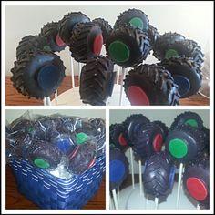 MONSTER Truck tires! Baby Boy Birthday, Sons Birthday, 6th Birthday Parties, Birthday Bash, Birthday Ideas, Monster Truck Rally, Monster Truck Birthday, Monster Truck Cupcakes, Monster Jam