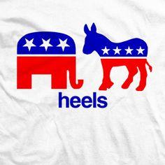 Get your Republican and Democrat T-shirt here Wrestling Shirts, Politics, Heels, T Shirt, Heel, Supreme T Shirt, Tee Shirt, High Heel, Tee