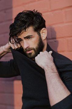 Beard + Medium lenght hair