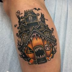 69 Best Halloween Tattoos Ideas For Men and Women - Page 3 of 3 - MindBlowra Sweet Tattoos, Dream Tattoos, Future Tattoos, Body Art Tattoos, New Tattoos, Cool Tattoos, Globe Tattoos, Tattoo Art, Tatoos