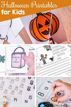 Halloween Printables for Kids - Simple Fun for Kids Fun Activities For Preschoolers, Halloween Activities For Kids, Fairy Halloween Costumes, Spooky Halloween, Halloween Designs, Math Games, Number Activities, Alphabet Activities, Literacy Activities