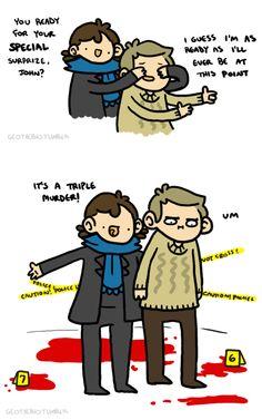 Sherlock will never understand John's nonexistent need for murder.