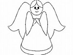 Transmissionpress Free Printable Christmas Angel Colouring Pages See More Image Result For Simple Coloring Page Of