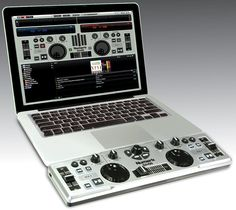 My Hubby will love this <3  wowww!    Numark DJ2GO Brings Full DJ Controls In A Keyboard-Sized Peripheral    J controllers are either bulky pieces of equipment or generally uninspiring little USB buggers.  Portability or capability -- you have to give up one or the other.  Not with the Numark DJ2GO, a smallish DJ controller that lets you lay down the tunes while enjoying the feeling of knobs, sliders and buttons at the tip of your fingers.